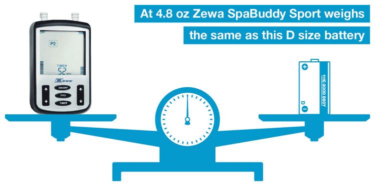 Zewa SpaBuddy Sport weighs 4.8 oz