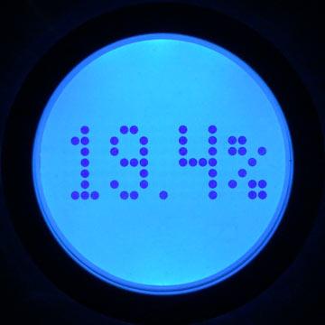 Aria backlit display – body fat measurement