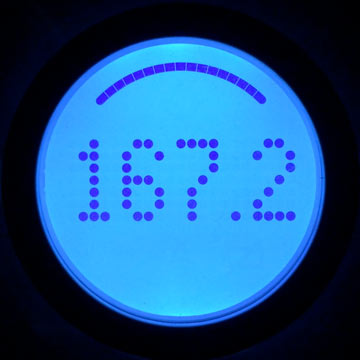 Aria backlit display – weight measurement
