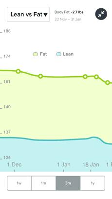 Lean vs Fat chart in Fitbit's iPhone app