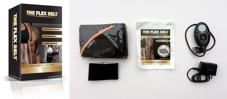 Flex Belt packaging and pieces