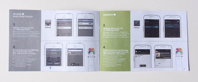 Withings Smart Body Analyzer WS-50 Quick Installation Guide