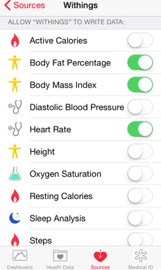 Smart Body Analyzer sharing measurements with Apple Health – step 3