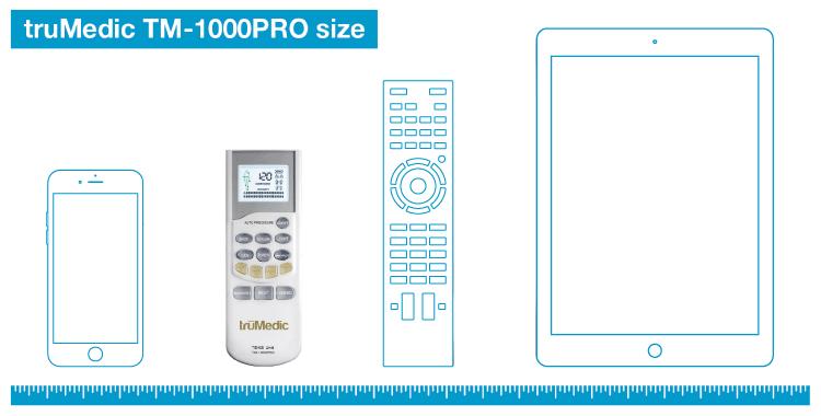 truMedic TM-1000PRO size