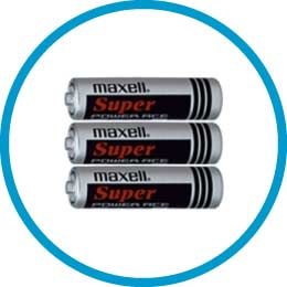 Included accessories – batteries