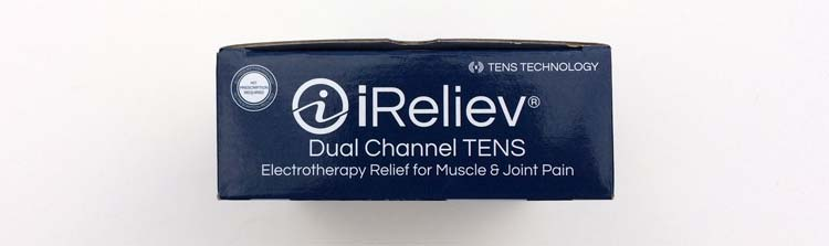 packaging with slogan: electrotherapy relief for muscle and joint pain