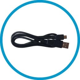 Included accessories – 1 USB charging cable