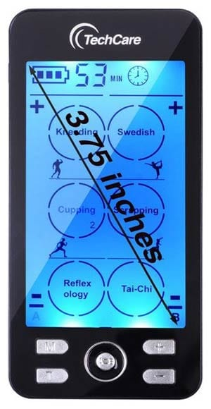 TechCare Plus 24's LCD display measures 3.75 inches