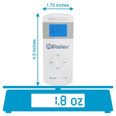 iReliev PlayMakar wireless remote weighs 1.8 oz