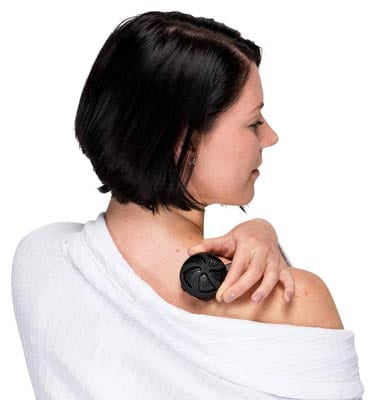 Benepod being used for shoulder pain