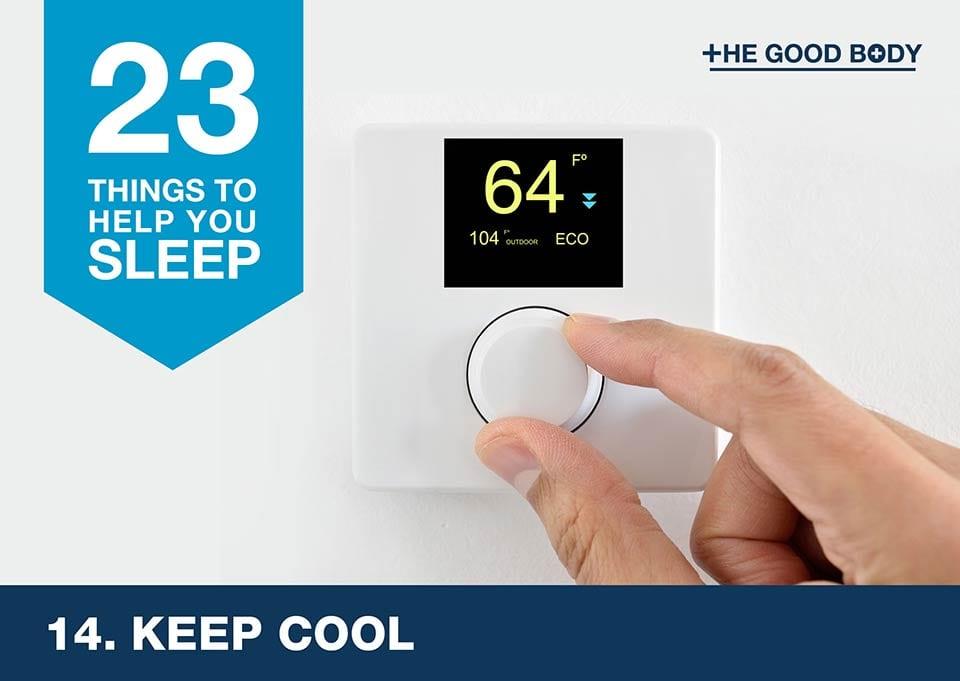 Keep cool to help you sleep