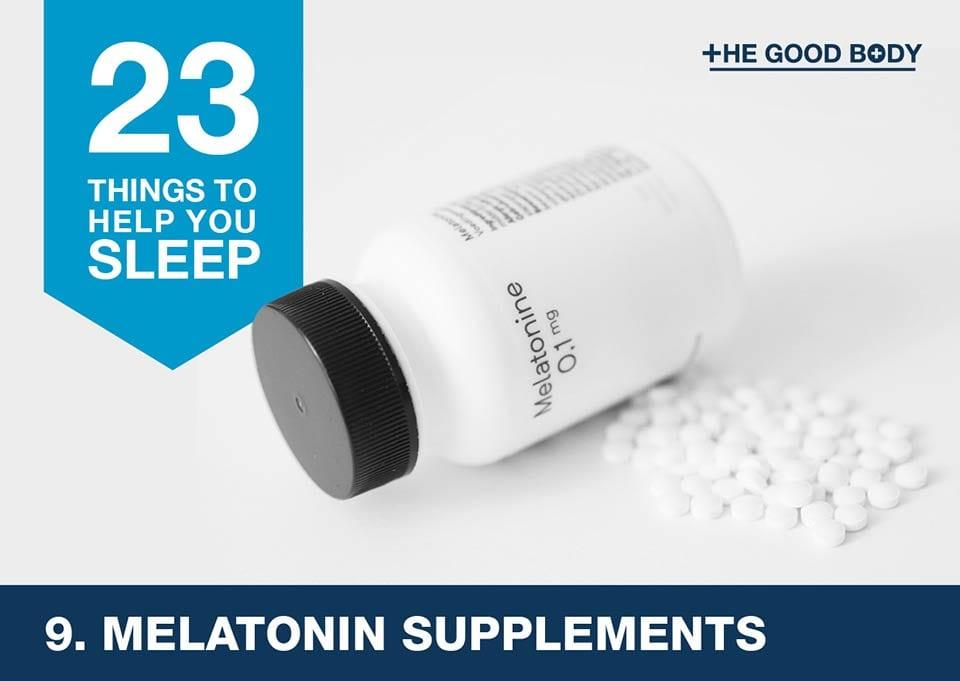 Melatonin supplements to help you sleep