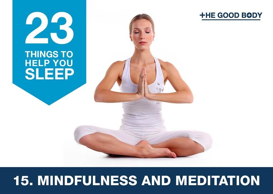 Mindfulness and meditation to help you sleep