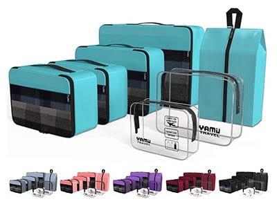 Yamiu Packing Cubes with Shoe Bag