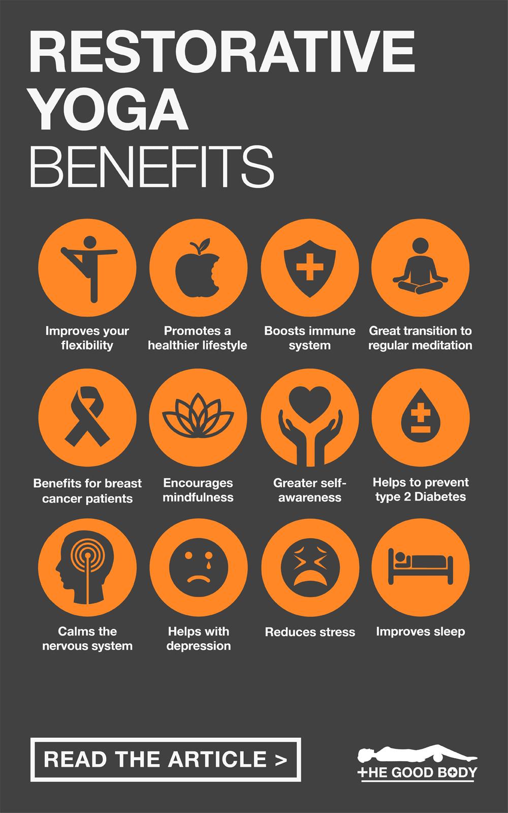 Benefits of Restorative Yoga – Pin it