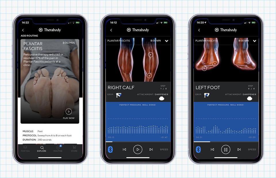 Therabody app for Theragun percussive massage guns