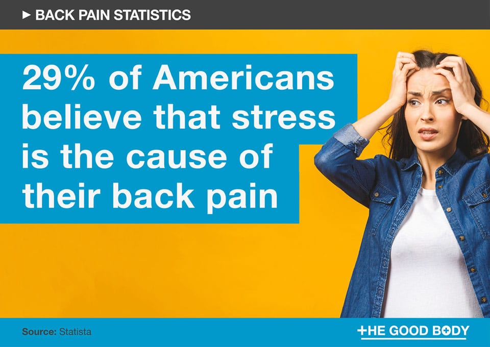 29% of Americans expressed that they believe stress is the cause of their back pain