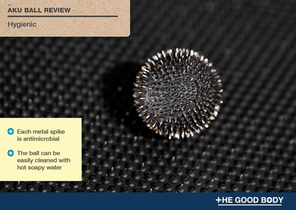Aku Ball is hygienic – each metal spike is antimicrobial