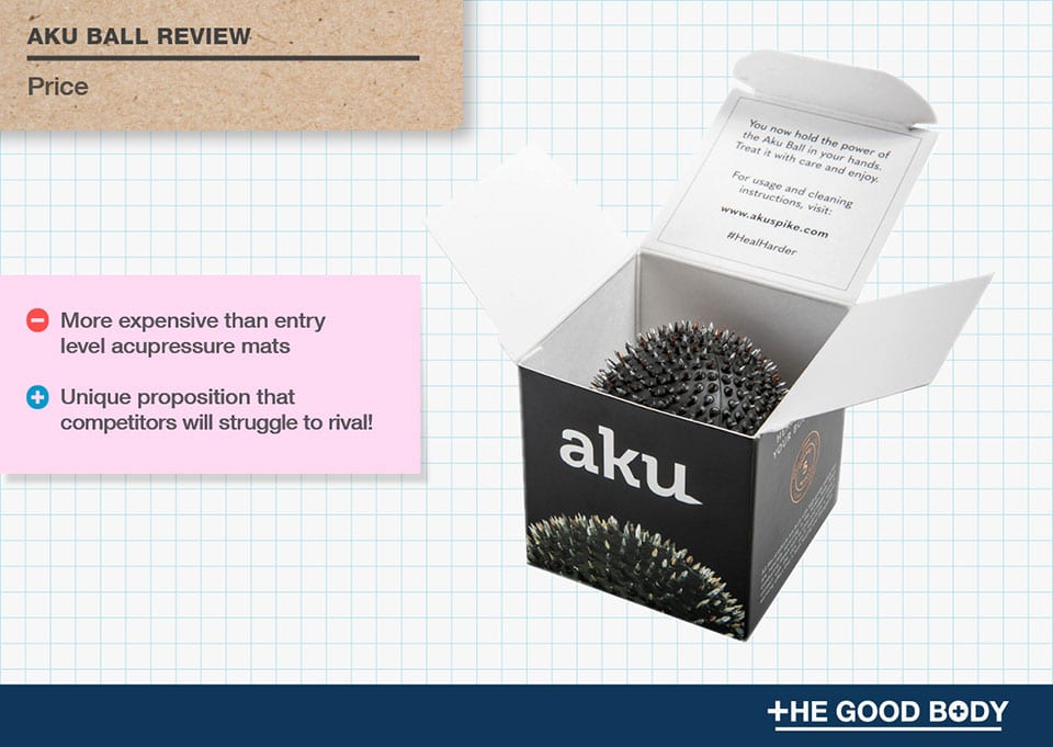 Aku Ball is more expensive than entry level acupressure mats